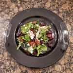 crumbly goat cheese salad